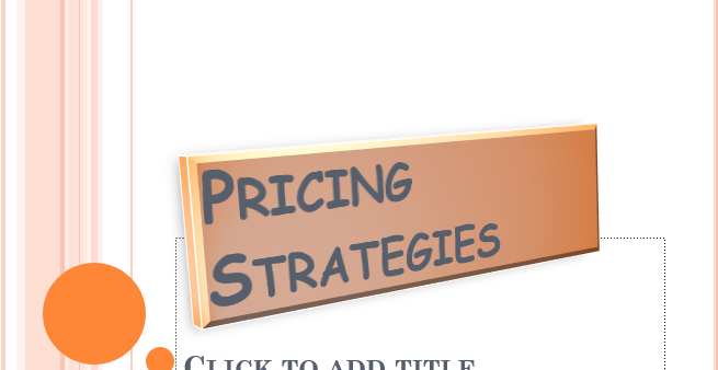 Pricing strategies A level