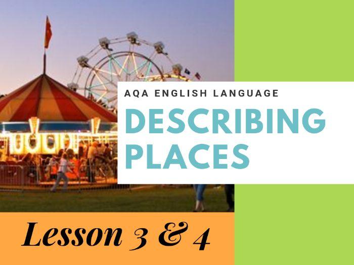 Descriptive Snapshot Writing - Describing Places Carousel - Lessons 3 and 4