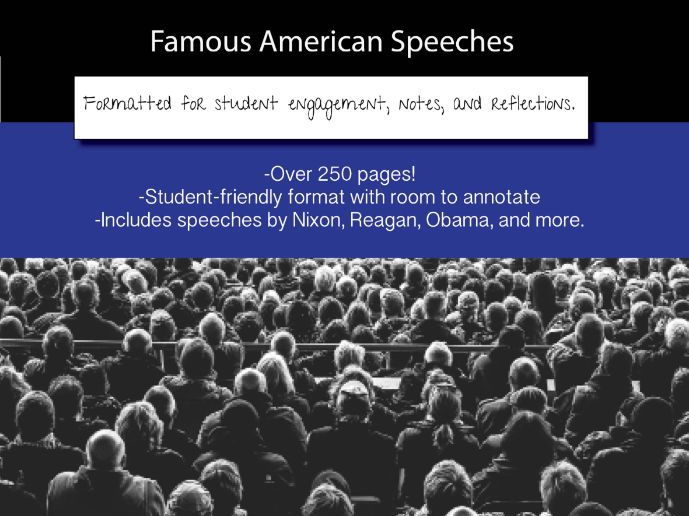 American Speeches Formatted for Annotation and Note-Taking
