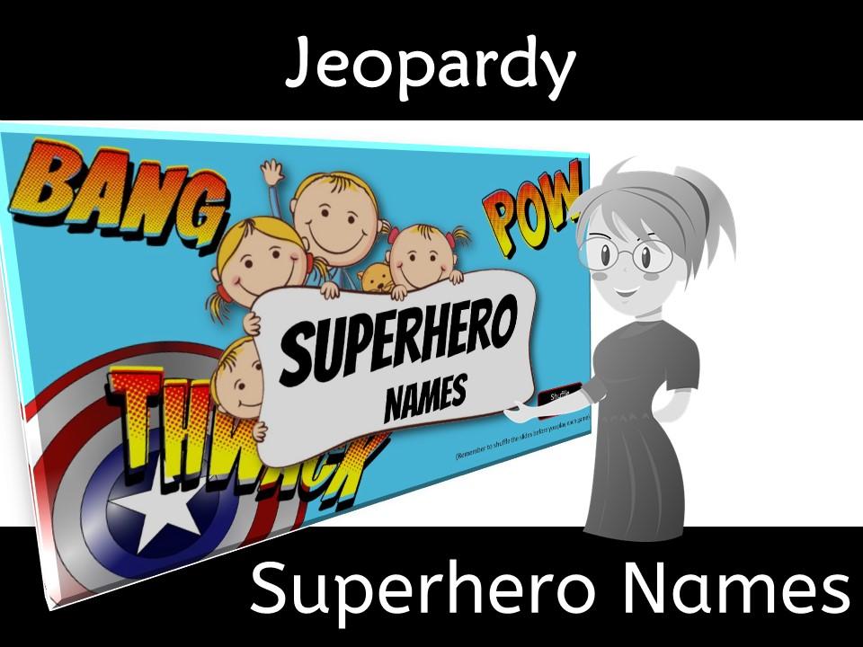 Back to School Superhero Names Class Bonding Game
