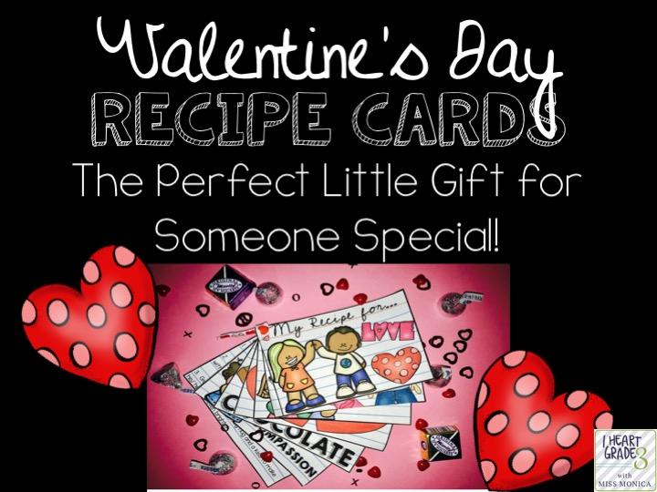 Valentine's Day Recipe Cards