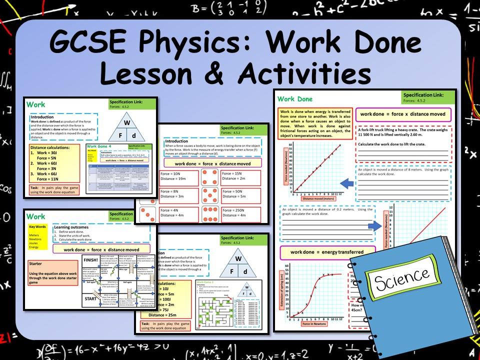 KS4 AQA GCSE Physics (Science) Work Done Lesson & Activities