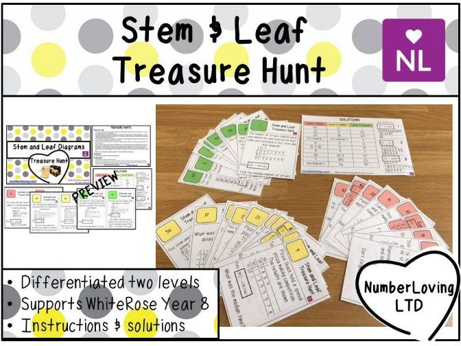 Stem and Leaf White Rose Year 9 Treasure Hunt