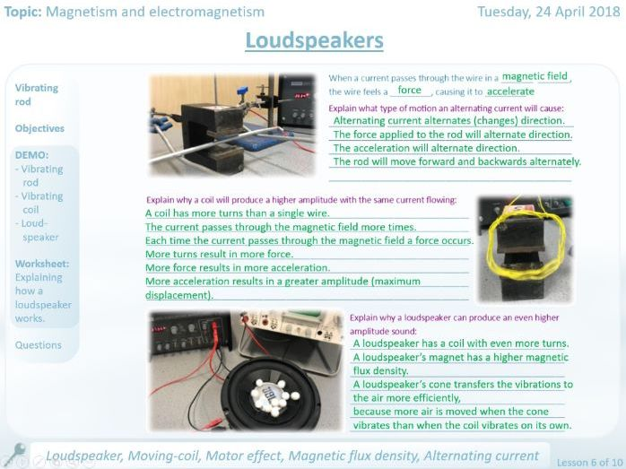 NEW AQA Loudspeakers GCSE Lesson