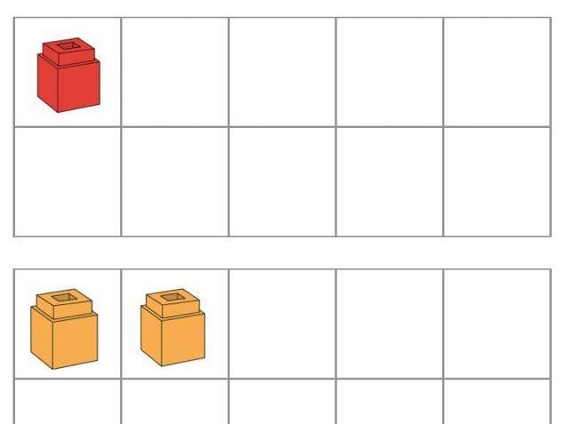 Ten Frames (Unifix Cubes 1-10)