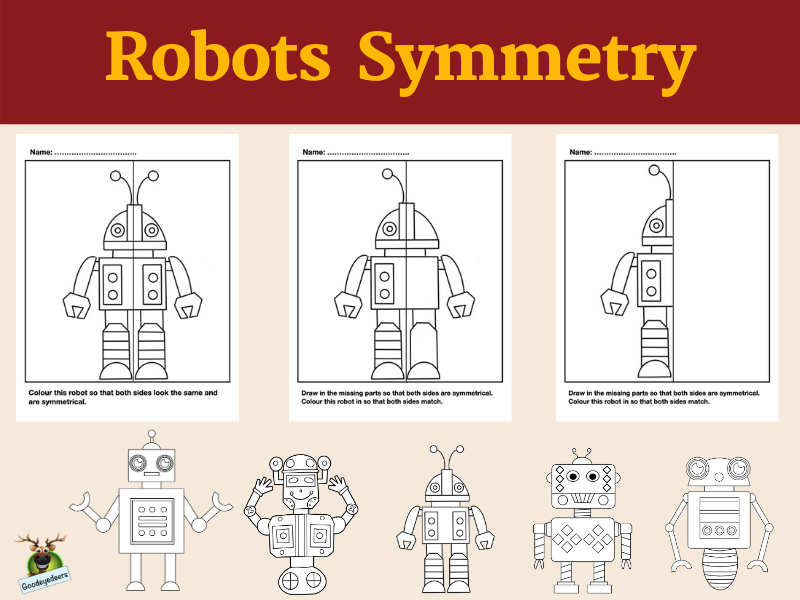 Lines of Symmetry With Robots - Fun Maths Activity