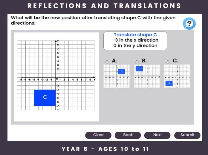 Reflections and Translations - Year 6