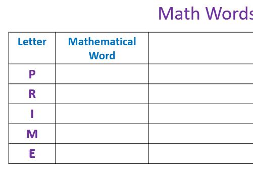 Literacy in Mathematics