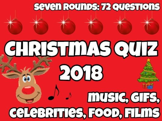 Fun Christmas Quiz 2018 with 72 questions - Music, gifs, film, celebs, films, etc