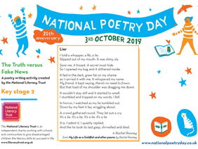 National Poetry Day 2019 Resource from National Literacy Trust KS2