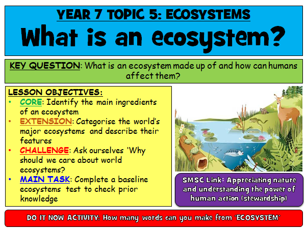 Introduction to Ecosystems [Year 7]