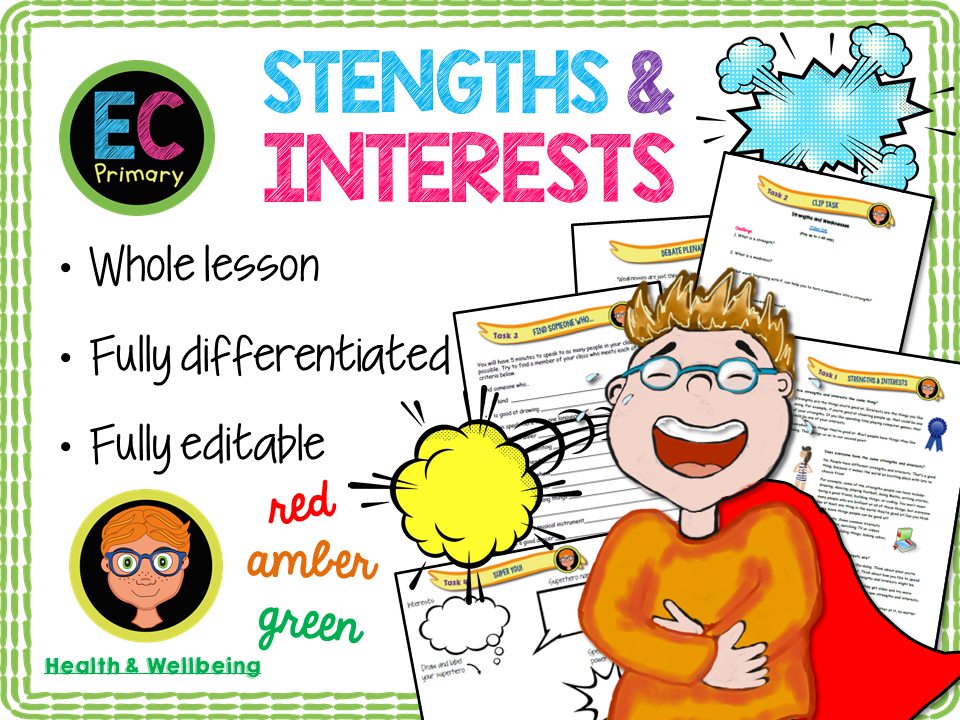 Personal strengths and Interests PSHE