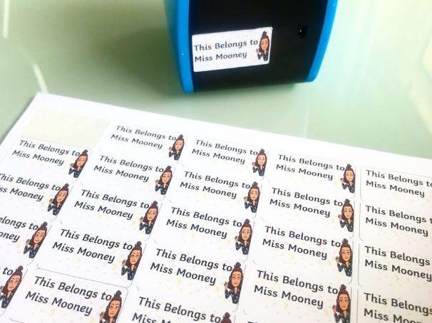 Teacher Belonging Labels