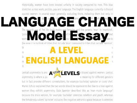 Language Change Example Student Essay