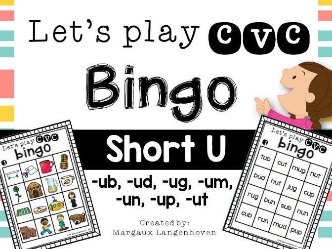 CVC Short U Bingo