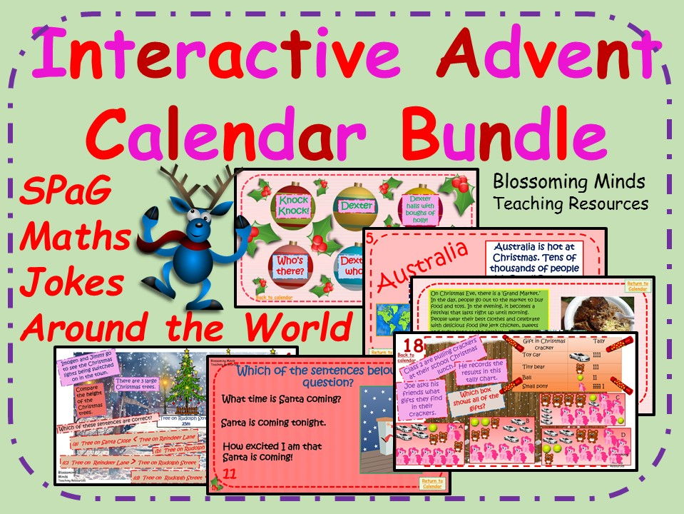 Year 2 Interactive Advent Calendar Bundle - Christmas