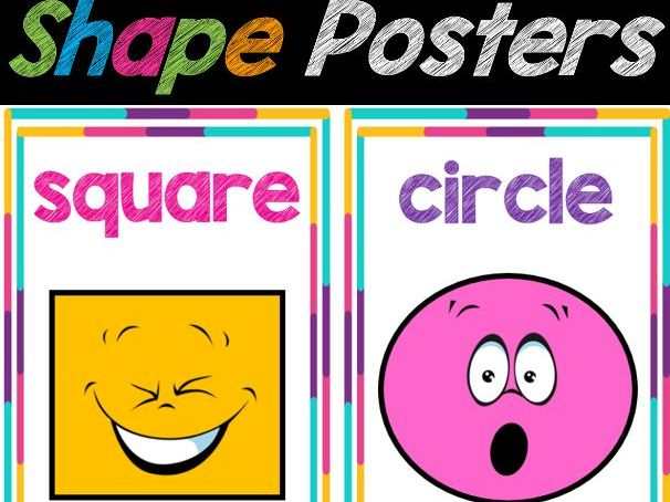 2D Shapes Posters for Classroom Decor   Shapes Chart, Back to School