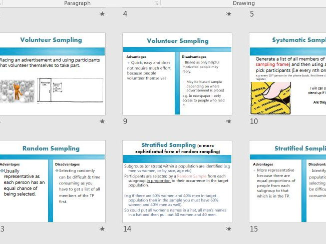 SAMPLING METHODS - AQA Psychology research methods FULL LESSON (ppt, exam questions, activities)