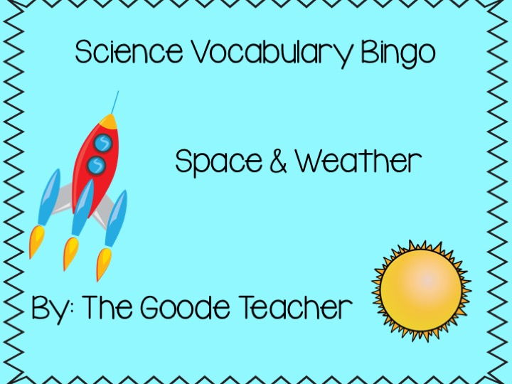 Space & Weather Vocabulary Bingo