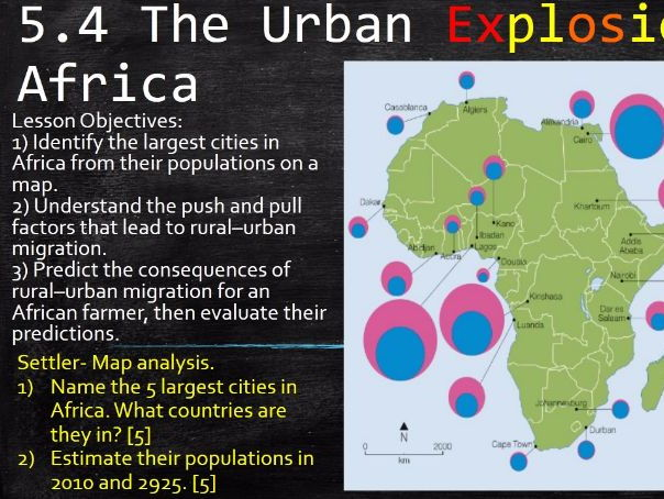 NEW OCR B Enquring Minds URBAN FUTURES 2017 4) The Urban Explosion WITH ANSWERS