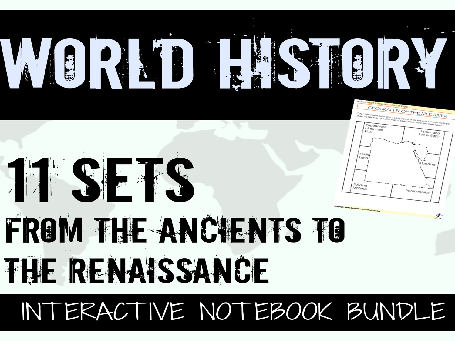 World History Digital Notebook Ancients to Renaissance for Google Drive
