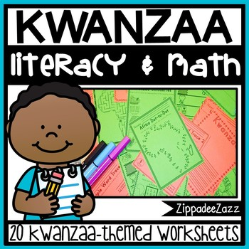 Worksheets for Kwanzaa ELA Literacy and Math Activities
