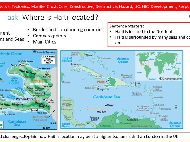 Geography Lesson- Haiti Tsunami case study