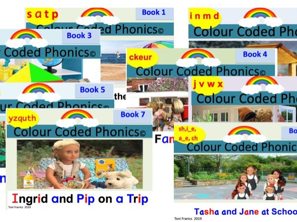 Complete Set Phase 2 Phonics Readers follows letters and sounds