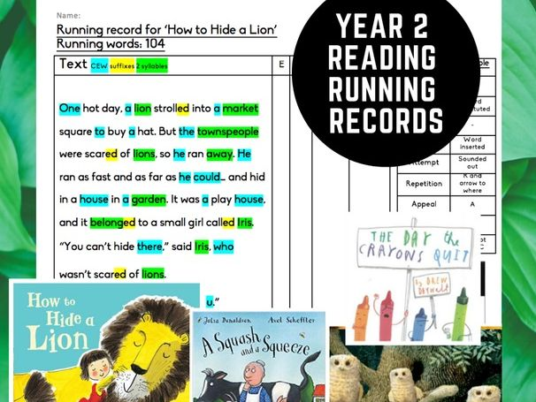 Year 2 Reading Running Records Moderation Evidence