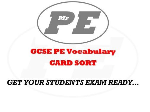 GCSE PE Vocabulary CARD SORT