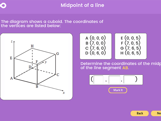 Mid-point of a line segment - GCSE (1-9)