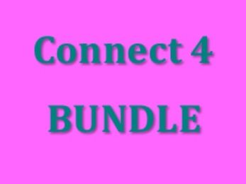 Connect 4 Vocabulary games in Spanish Bundle