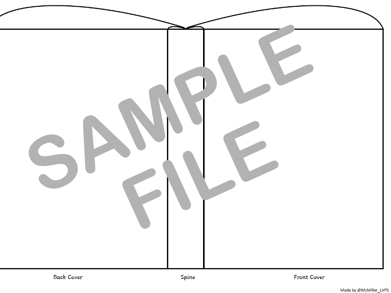 Book Cover Template A4 Printable - Reading Activity Sheet