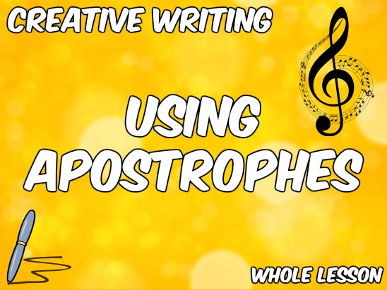 Apostrophes in Creative Writing - Disney Songs as a Stimulus