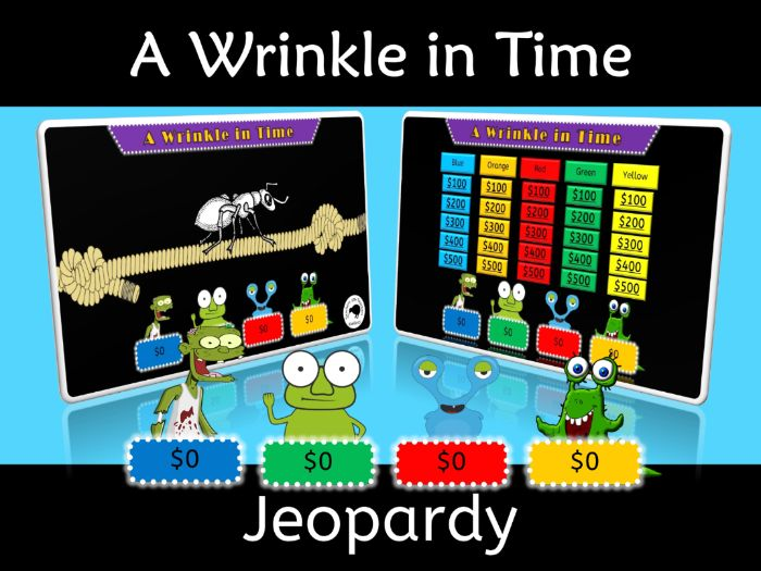 A Wrinkle in Time Jeopardy Novel Study Review Jeopardy Game