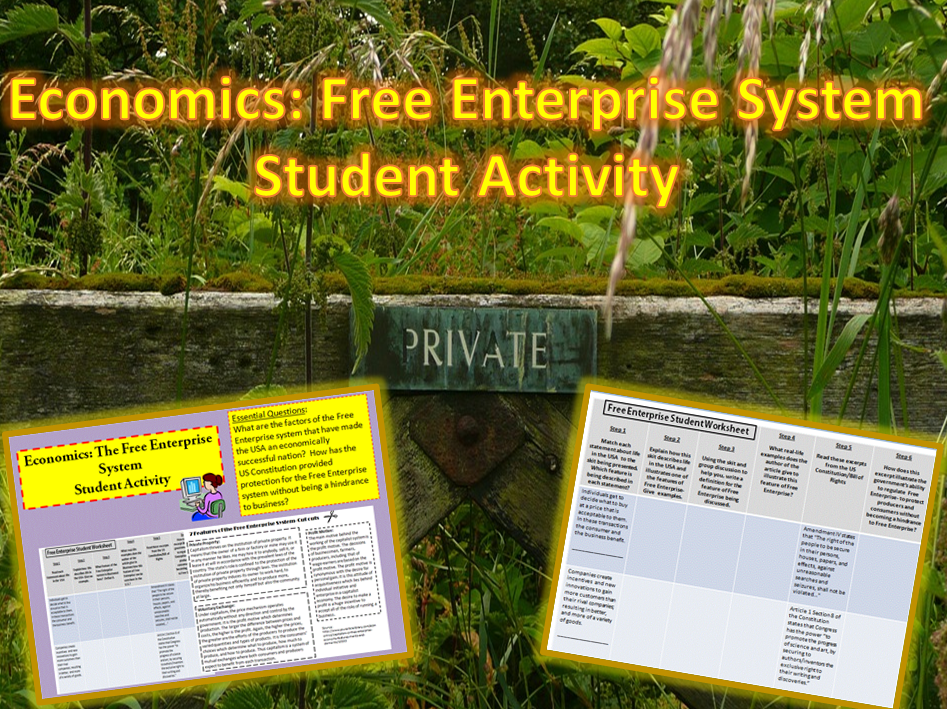 U.S. Economics: Free Enterprise System Student Activity