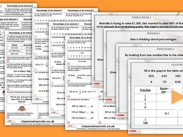 Year 6 Percentage of an Amount 1 Spring Block 2 Step 3 Lesson Pack