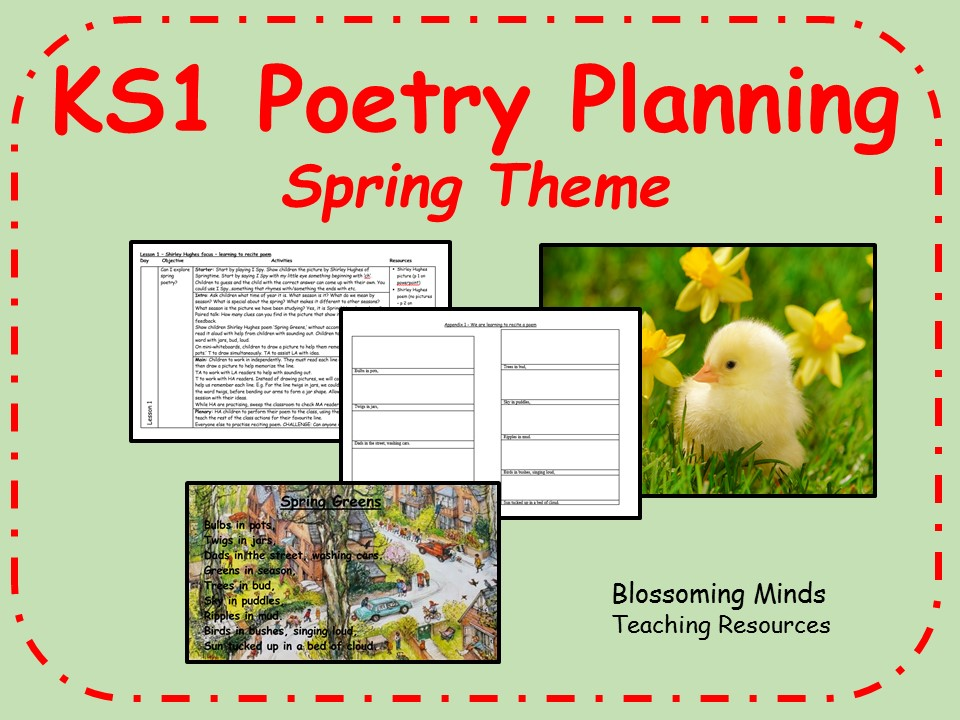 KS1 Spring poetry 5 day unit