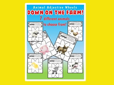 Animal Adjectives - Farm Animals - Descriptive Writing - Adjectives