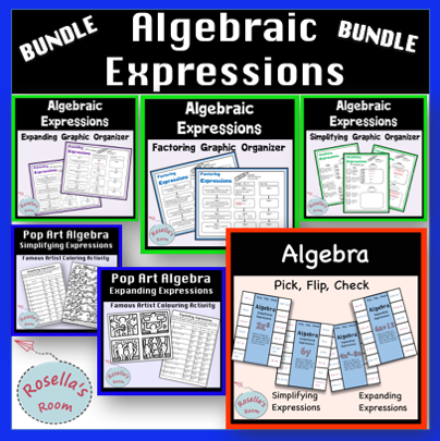 Algebraic Expressions Activities and Graphic Organisers