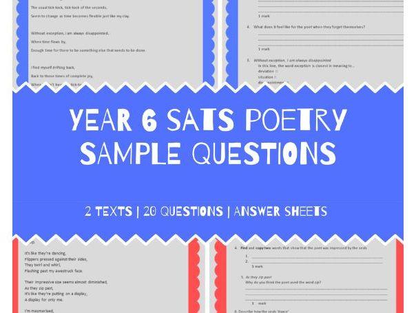 Y6 SATS Reading Poetry Practice