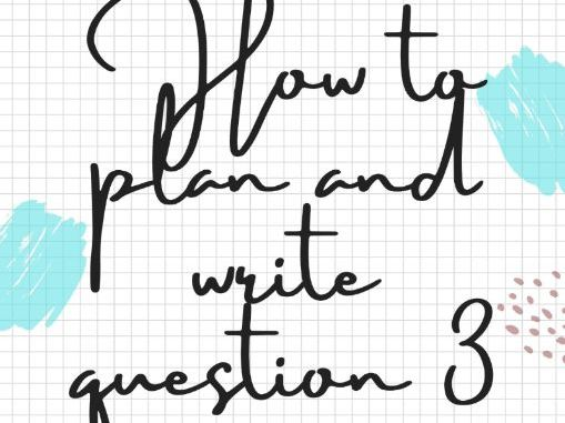 How to plan and write question 3 IGCSE Spanish