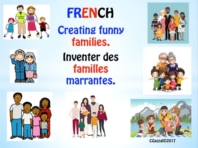 French KS2 & KS3 - Creating Funny Families. (Self & Family)