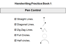 Handwriting book Pencil Control.