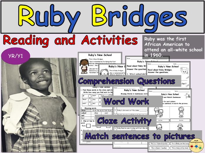 Reading Comprehension Passage Questions Worksheets Ruby Bridges Black History Month