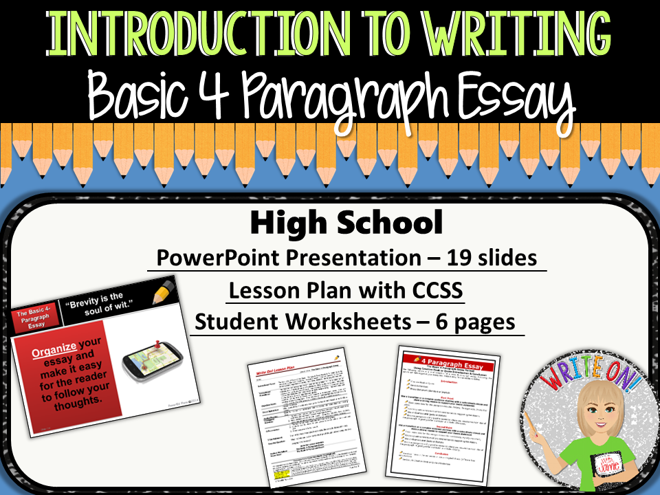 paragraph essay introduction to writing high school by 4 paragraph essay introduction to writing high school by morgenstern93 teaching resources tes