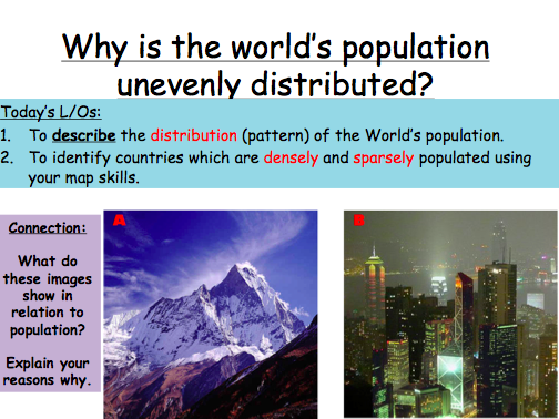 Lesson 1: Why is the world's population unevenly distributed? (Observation Lesson)