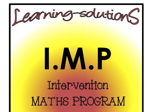 INTERVENTION MATHS PROGRAM - IMP Year 2 - ACARA aligned - Number, Place Value, Patterns and Algebra