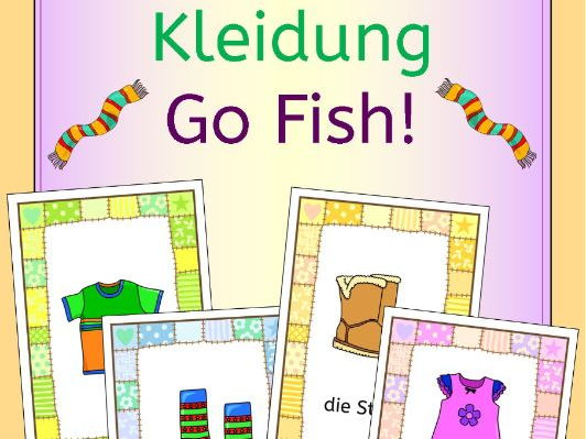 German clothing - Kleidung - Go Fish ! game