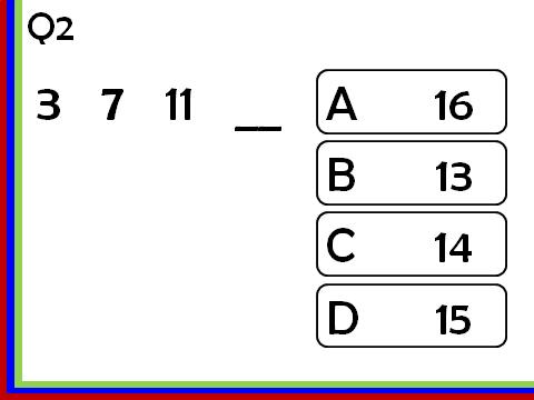 Linear Sequences_next term: Multiple Choice Quizzes